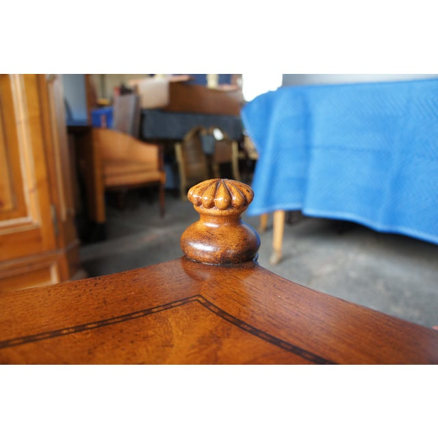 Wood Traditional Thomasville British Gentry 3 Tier Side Table For Sale - Image 7 of 13