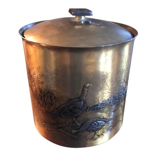 Vintage Solid Bronze Bucket Handmade by Renown Wendell August Forge For Sale