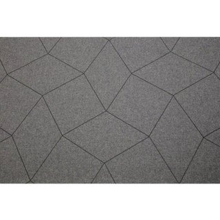 Sample, Maya Romanoff Cozy Day Dreamer: Grey Fleece/Charcoal - Woven Wool Wallcovering For Sale