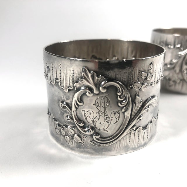 19th Century French Henri Sufflot Minerva Silver Napkin Rings - a Pair For Sale In Cleveland - Image 6 of 7