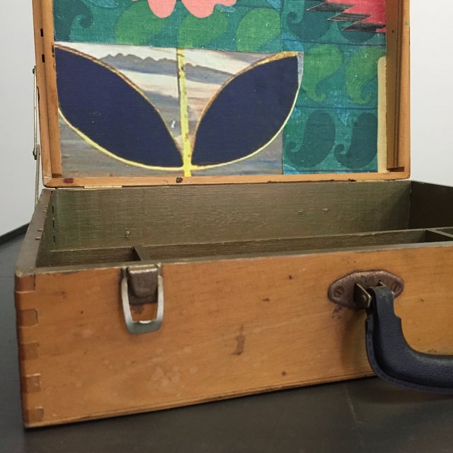 Vintage Artist Box With Collage Interior - Image 5 of 8
