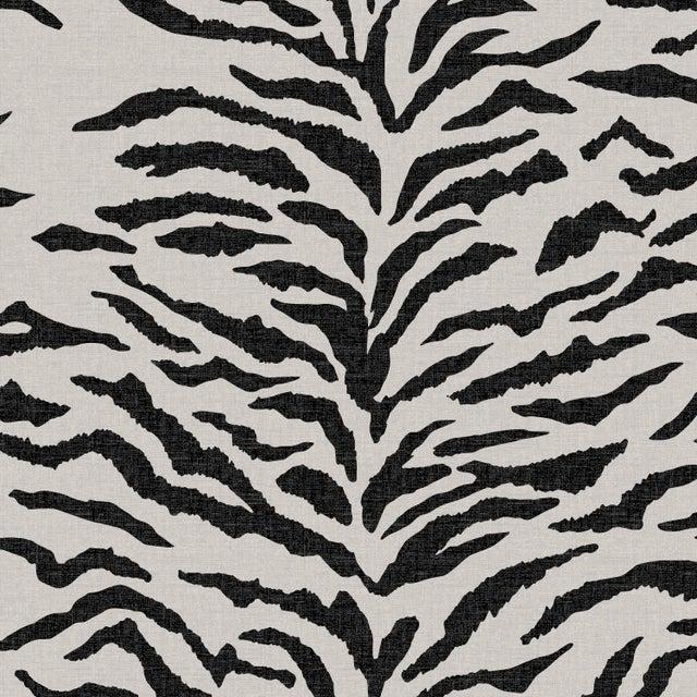 Bar stool in Linen Zebra Cream Black For Sale In Chicago - Image 6 of 8