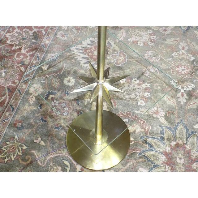 1960s 1960s Mid-Century Modern Stiffel Starburst Brass Torchiere Floor Lamp For Sale - Image 5 of 13