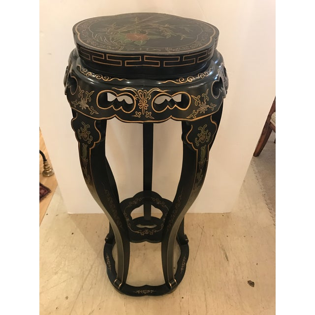 Asian Chinoiserie Style Plant Stand or Pedestal For Sale - Image 3 of 11