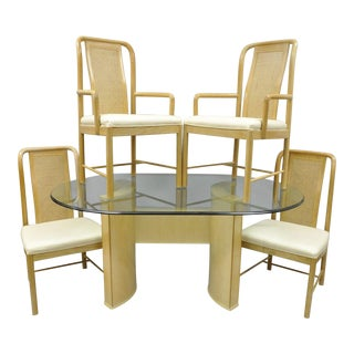 Drexel Heritage Compatibles Blonde Wood Dining Set For Sale