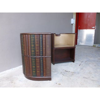 1980s Traditional Maitland Smith Library Barrel Chairs With Book Spine Coverings - a Pair Preview