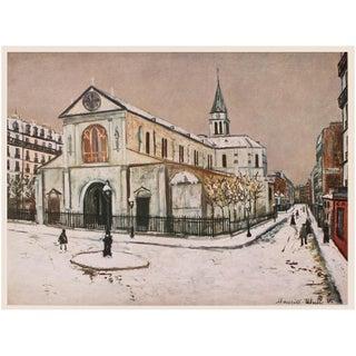 "1950s Maurice Utrillo ""Paris, Notre-Dame De Clignancourt"", First Edition Period Lithograph For Sale"