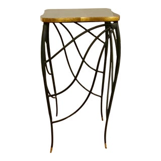 Currey & Co. Art Deco Style Linus Metal Side Table For Sale