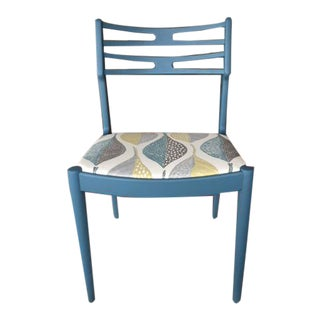 Mid Century Hand-Painted Upcycled Side Chair