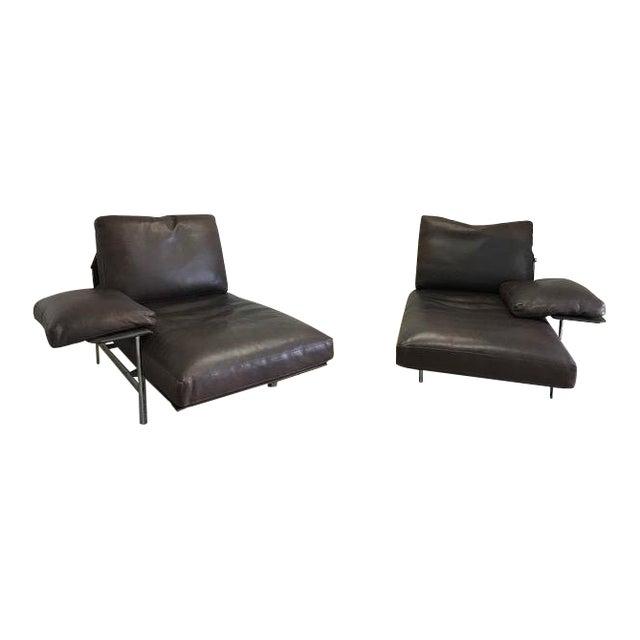 B& B Italia Bauhaus Diesis Leather Chaises - a Pair For Sale