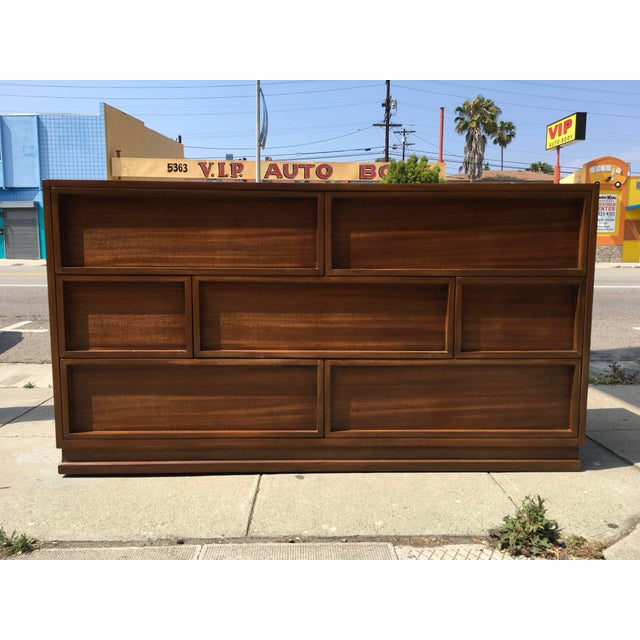 1940s Mid Century Modern Triangle Brand Mahogany Low Dresser For Sale - Image 9 of 11