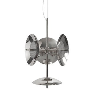 Modern Nickel Signal Chandelier 3s+1 For Sale