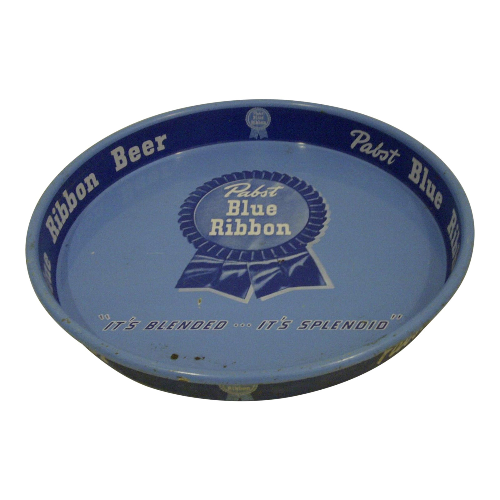 Vintage Quot Pabst Blue Ribbon Beer Quot Serving Tray Chairish