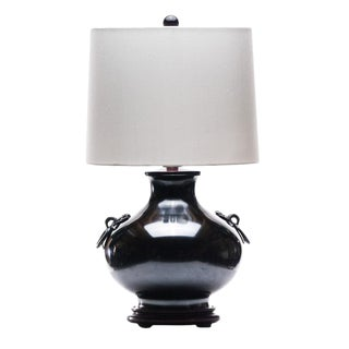 Lawrence & Scott Ayako Brass Meditation Lamp With Ring For Sale