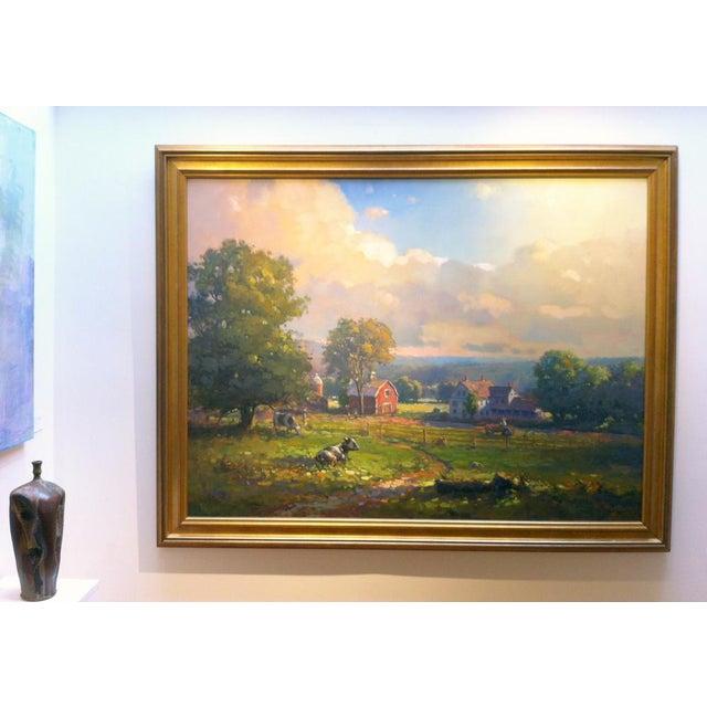 Canvas John C. Traynor, New England Farm, 1991 For Sale - Image 7 of 9