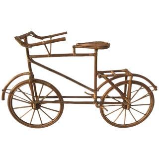 Rattan Lifesize Bicycle Sculpture