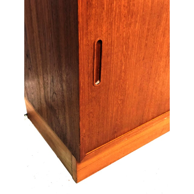 1970s Danish Modern Hundevad Teak Wall Unit Desk & Bookcase For Sale - Image 6 of 11