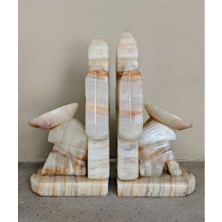 1970s Vintage Mexican Onyx Bookends- A Pair Preview
