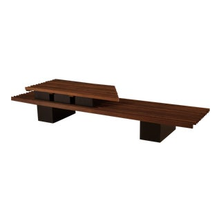 Vintage Mid-Century Two-Tier Studio Slat Bench / Coffee Table For Sale