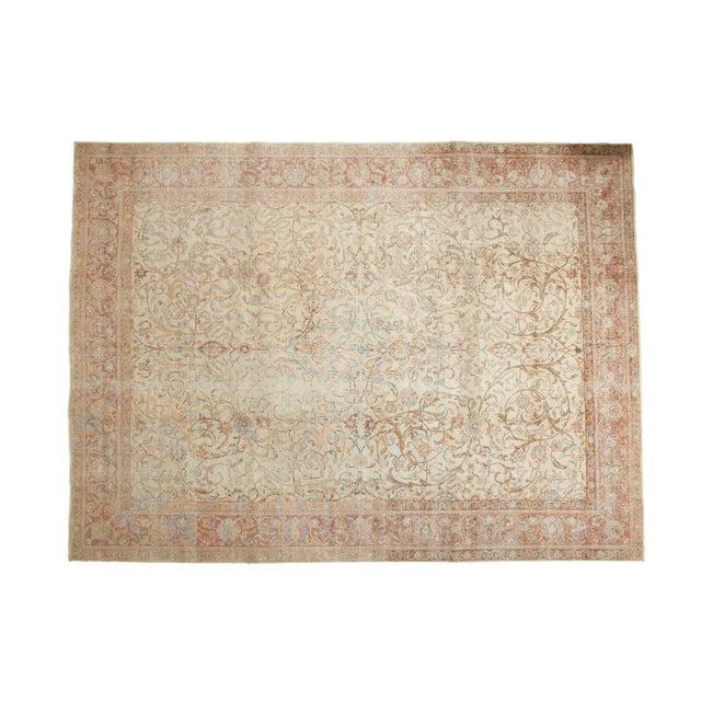 "Vintage Distressed Sivas Carpet - 8' x 10'10"" For Sale - Image 11 of 11"