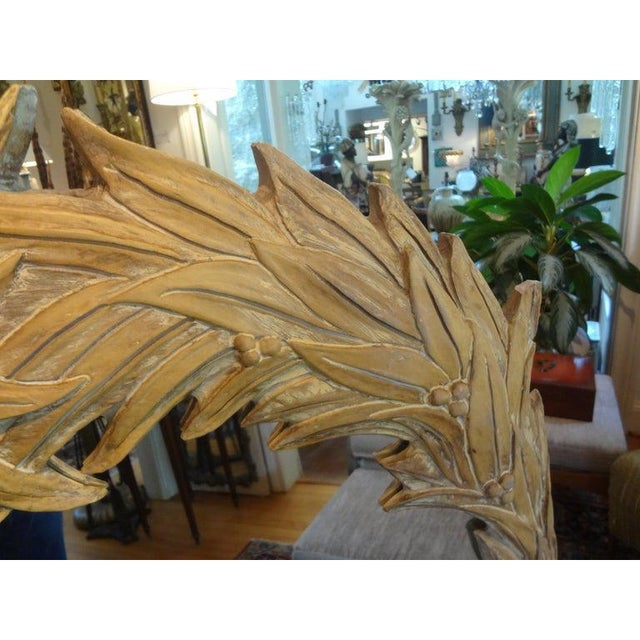 Vintage Dorothy Draper Style Palm Frond Mirror For Sale In Houston - Image 6 of 12