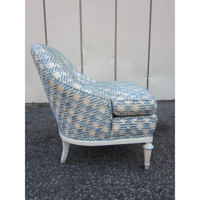 Pair of French Fauteuils / Slipper Chairs - Image 3 of 6