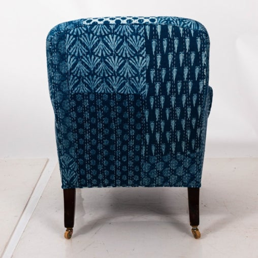 Traditional 1900s Victorian Upholstered Armchair For Sale - Image 3 of 7
