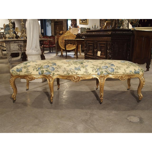 Antique Giltwood Regence Style Banquette From France, 19th Century For Sale - Image 10 of 13