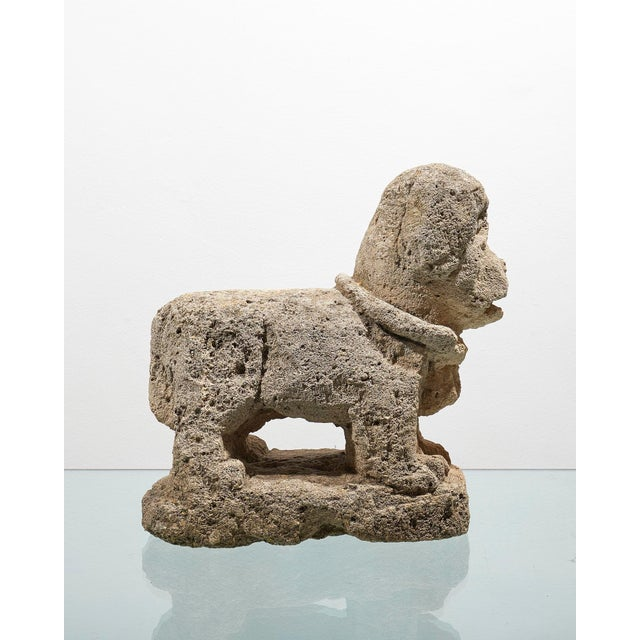 Italian Charming Italian 17th Century Carved Stone Dog For Sale - Image 3 of 5