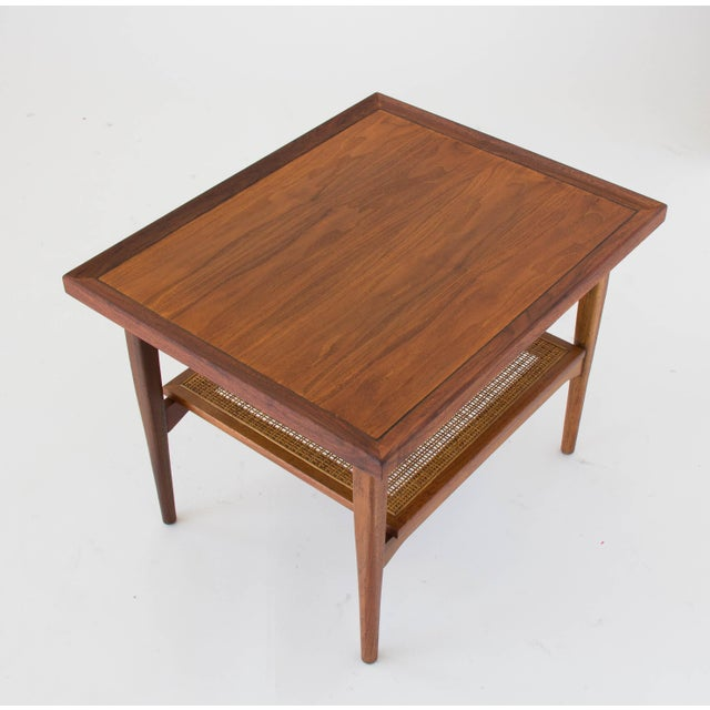 Drexel Declaration Side Table with Cane Shelf For Sale In Los Angeles - Image 6 of 8