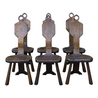 John Babour Primitive Dining Chairs - Set of 6