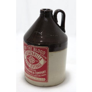 Antique American Stoneware Quart Size Sarsaparilla Jug Preview