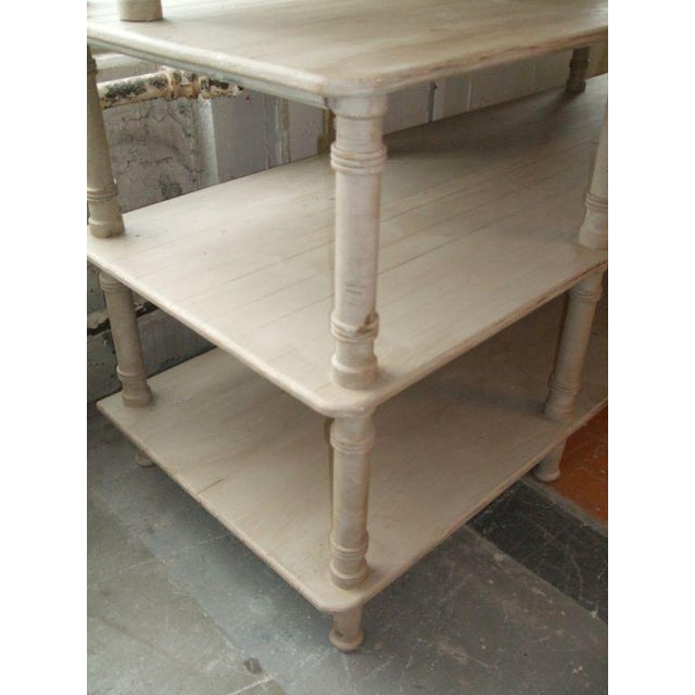 Grey Painted French Shelving Unit For Sale - Image 4 of 8