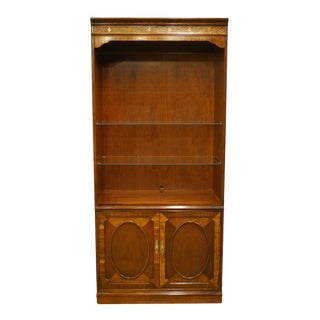 Thomasville Furniture Traditional Style Banded Mahogany Bookcase For Sale