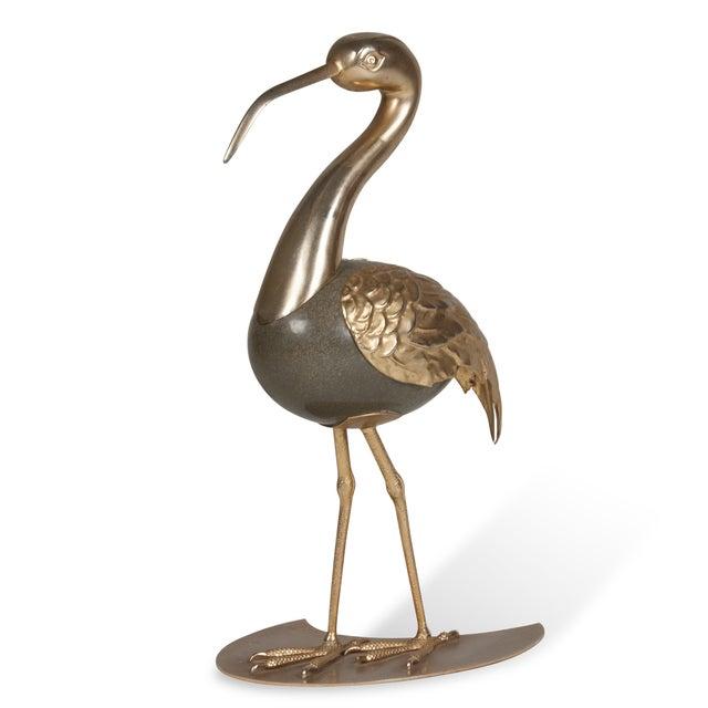 Brass Standing Ibis Sculpture - Image 2 of 7