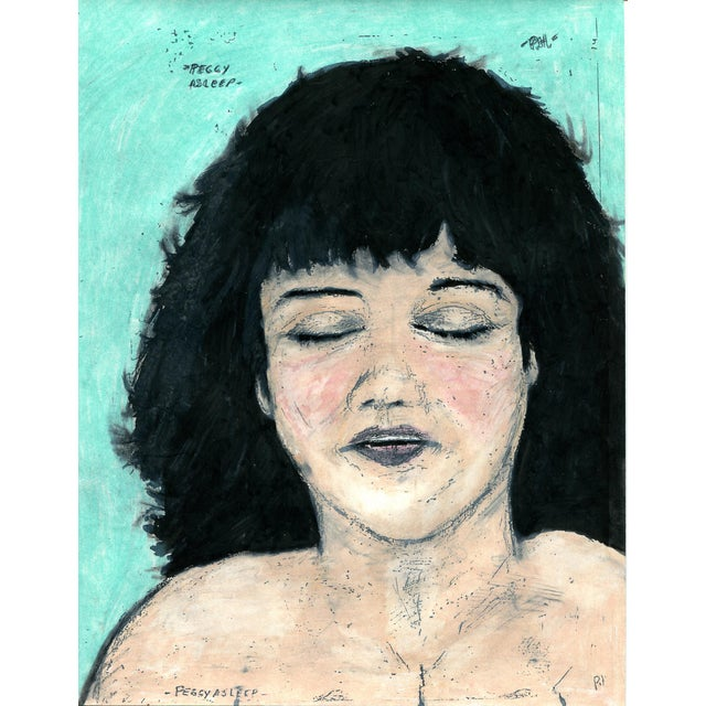 Folk Art Paul Humphrey: Peggy Asleep For Sale - Image 3 of 3