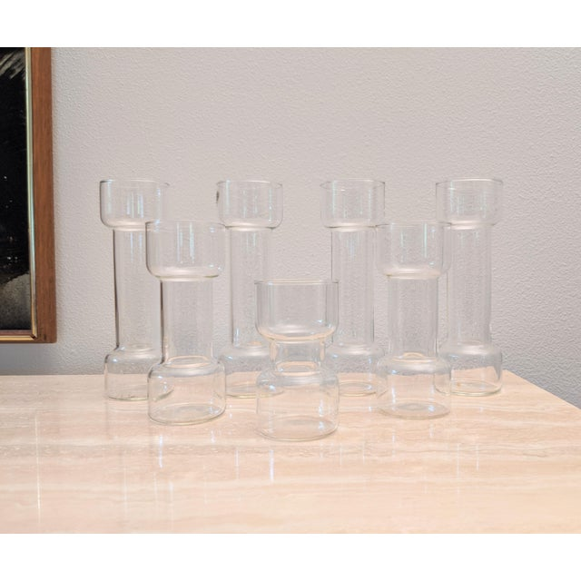 Contemporary Minimalist Modernist Pyrex Vases by Creative Glass - Set of 7 For Sale - Image 3 of 9