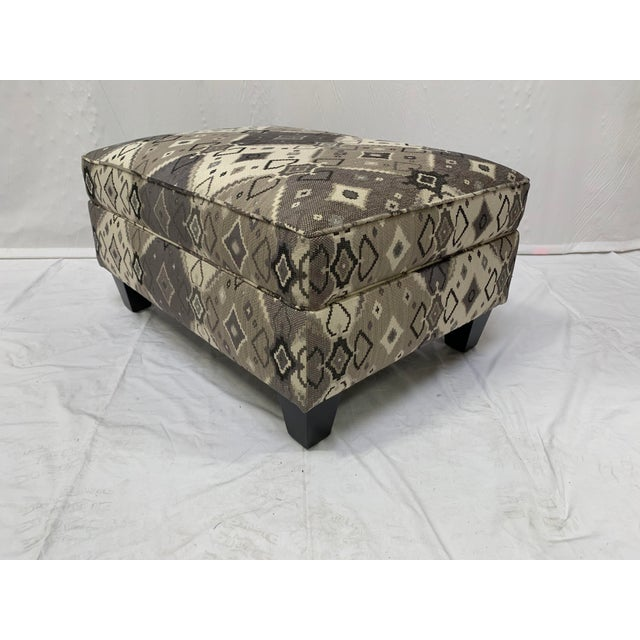 Late 20th Century Grey-tone Ottoman For Sale - Image 10 of 10