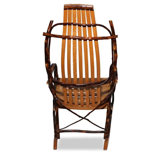Amish Bentwood Rocker & Footstool Set - Image 5 of 6