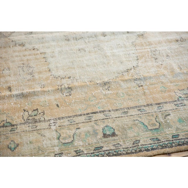 """Old New House Vintage Distressed Oushak Carpet - 7'2"""" X 10'1"""" For Sale - Image 4 of 13"""