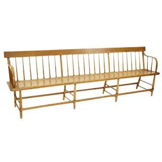 American Windsor Elm Wood Bench / Church Pew