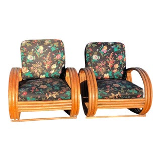 Rattan Lounge Chairs - A Pair
