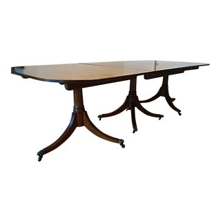 Antique Solid Mahogany Dining Table For Sale