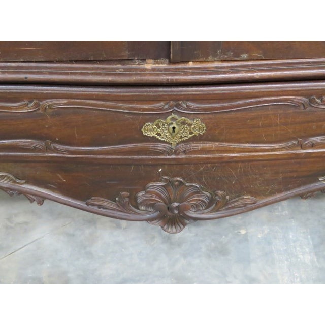Portugese Carved 2-Door Armoire - Image 4 of 10