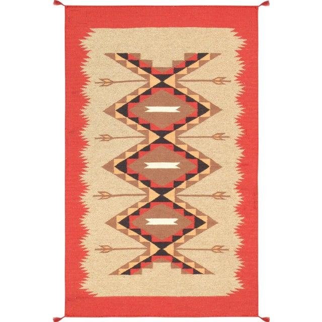 Navajo Decorative Hand-Woven Rug - 3' X 5' - Image 1 of 3