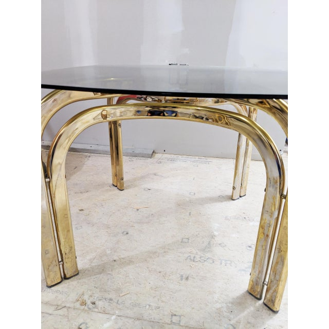 Mid-Century Modern 1980s Hollywood Regency Brass Coffee Table For Sale - Image 3 of 6