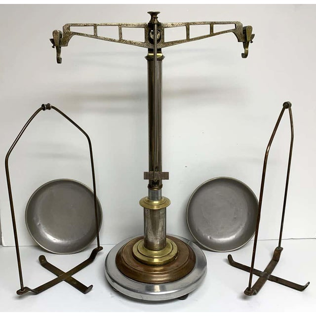 Antique Italian Mixed Metal Fruit Scale For Sale - Image 11 of 13