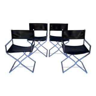 1960s Vintage Robert Kjer Jakobsen for Virtue Director's Chairs - Set of 4 For Sale