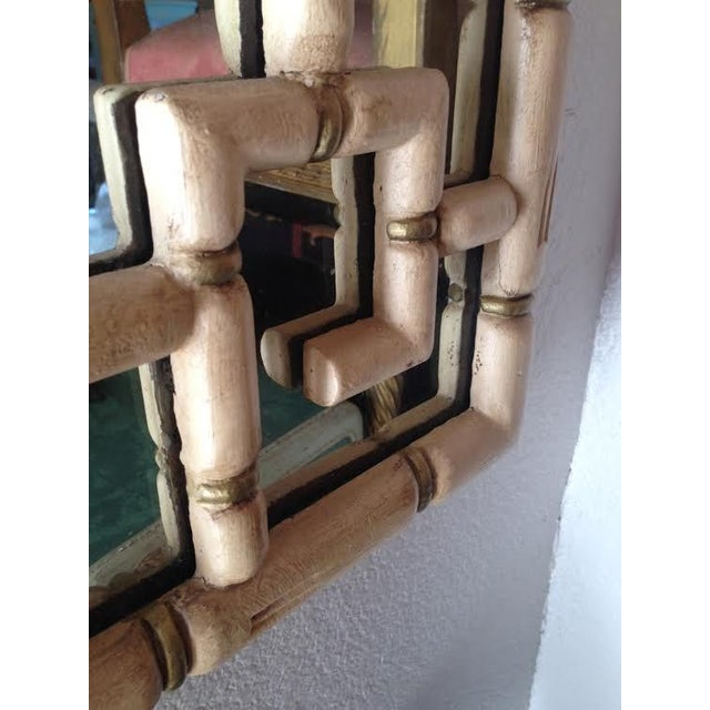 Hollywood Regency Style Faux Bamboo Mirror - Image 2 of 3