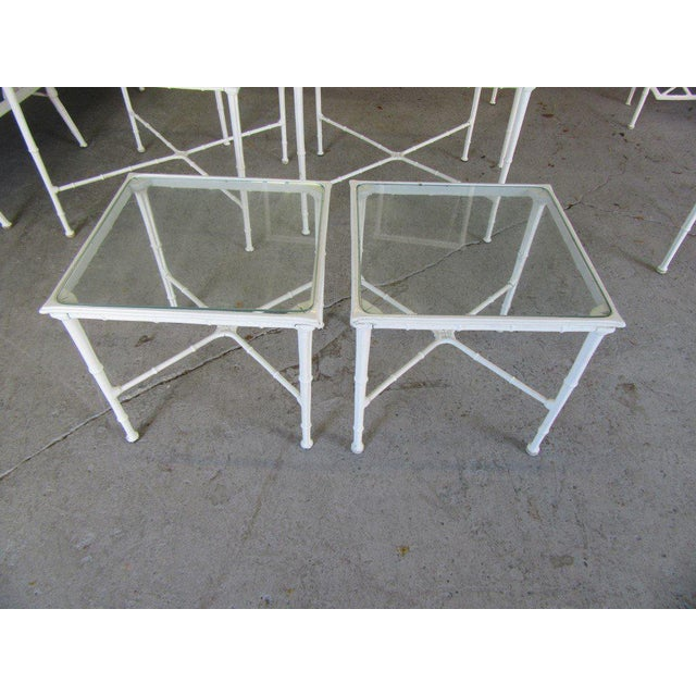 Glass Brown Jordan Side Tables - a Pair For Sale - Image 7 of 8
